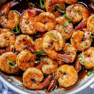 shrimp garlic honey