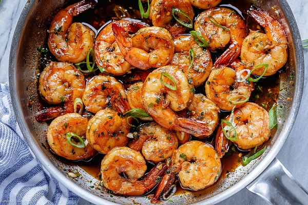 shrimp garlic honey