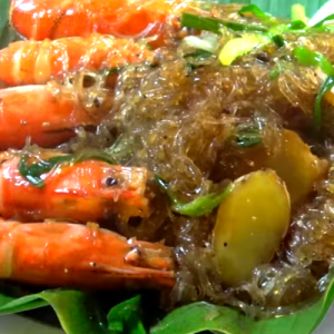 thai shrimp glass noodle